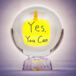 Yes you can in magic crystal ball — Stock Photo