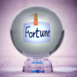 Fortune, words in magic crystal ball - Stock Photo