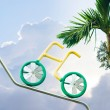 Ride bicycle to sky — Stock Photo #5554261