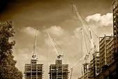 City under construction — Stock Photo