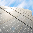 Series of solar energy panels - Stock Photo