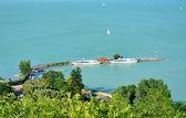 Ships resting on Lake Balaton in Tihany harbor,Hungary — Stock Photo