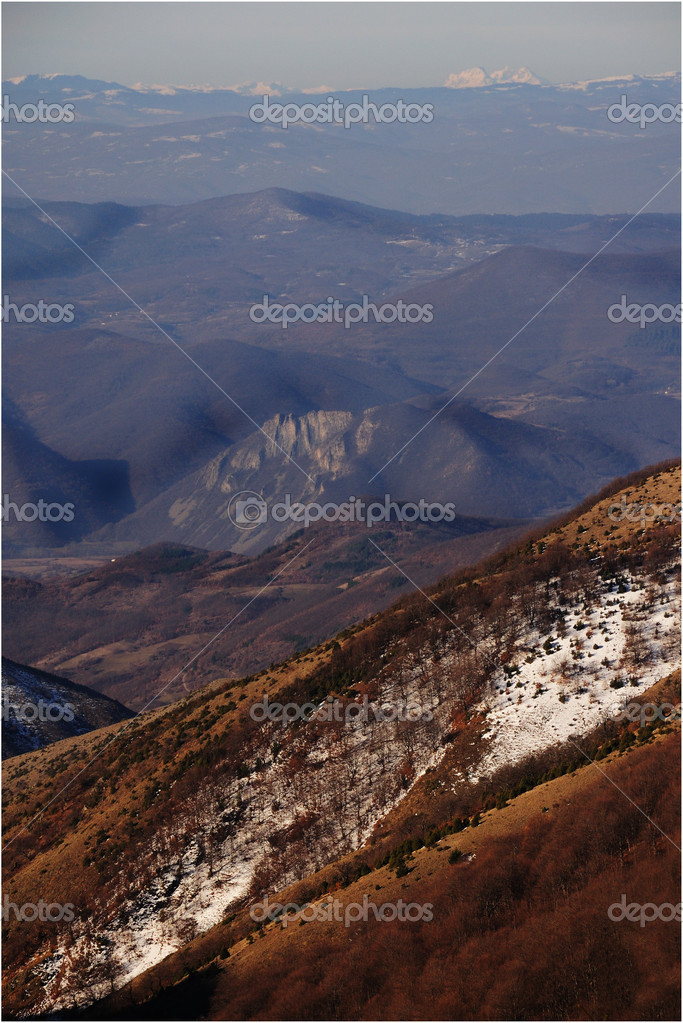 The alpine Mountains in spring Time  Stock Photo #5658405