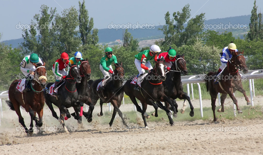 The race for the prize of the Afins Wuda,.Pyatigorsk, Caucasus, Russia.  — Stock Photo #5821730