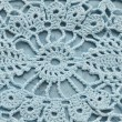 Stock Photo: Close-up of blue crocheting pattern