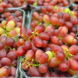 Stock Photo: Grapes on market stand
