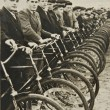 Men on bicycles, old photograph — Stock Photo #5389411