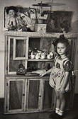 Girl with toys — Foto de Stock