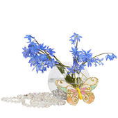 Bluebell bouquet in a vase — Stock Photo