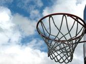 Açık basketbol çember — Stok fotoğraf