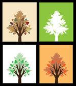 Zestaw drzew streszczenie — Wektor stockowy