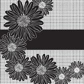 Floral invitation — Stock Vector