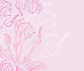 Floral invitation — Vector de stock