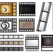 Stock Vector: Vector film strip set
