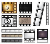 Vector film strip set — Stock Vector