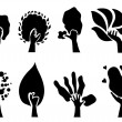 Set of 8 eco trees — Stock Vector #5773640