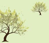 Grunge tree invitation — Stock Vector