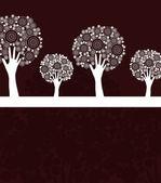 Hand tree invitation — Stock Vector