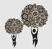 Abstract human trees — Stock Vector