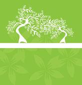 Bloemen boom uitnodiging — Stockvector