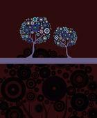Artistic tree invitation — Stock Vector
