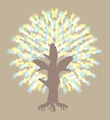 Abstract hand tree — Stock Vector