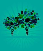 Human tree invitation — Stock Vector