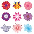 Set of flowers — Image vectorielle