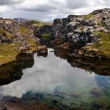 Stock Photo: Deep fissure at Thingvellir National Park