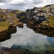 Deep fissure at Thingvellir National Park — Stock Photo #6534004