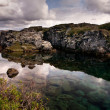 Deep fissure at Thingvellir National Park — Stock Photo #6534036
