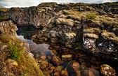 Deep fissure at Thingvellir National Park — Stock Photo