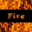 Fire flames and space for text — Stock Photo #6740528