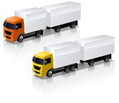 Vector truck icons set — Stock Vector