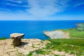 Kamień miejsce nad morzem — Zdjęcie stockowe