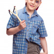Boy with a slingshot — Stock Photo #5389127