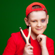 Boy with a slingshot — Stock Photo #5389141