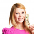 Girl with money — Stock Photo #5454837