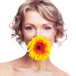 Woman with a flower — Stock Photo #5465165