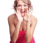 donna gridare — Foto Stock #5467836