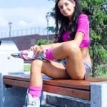 Woman on roller skates — Stock Photo #5562218
