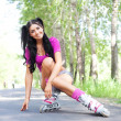 Woman on roller skates — Stock Photo #5562220