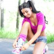 Woman on roller skates — Stock Photo #5562227