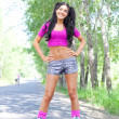 Woman on roller skates - Photo