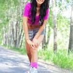 Woman on roller skates — Stock Photo #5562241