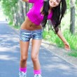 Woman on roller skates — Stock Photo #5562245