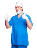Doktor gülümseyen — Stok fotoğraf