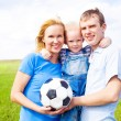 Family playing football — Stock Photo #5722294
