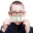 Child with money — Stock Photo #5773385