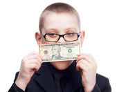 Child with money — Stock Photo